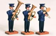 3 Musiker mit Posaune, Tenorhorn u. Becken