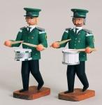 2 Musiker mit großer u. Kleiner Trommel