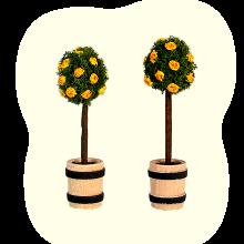 Verschiedene Bäume (farbig)