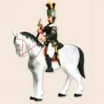 Berggeschworener zu Pferd, Schimmel
