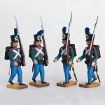 4 Soldaten mit Seitengewehr