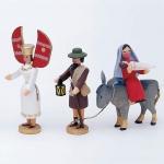 Flucht  - Verkündigungsengel, Josef, Maria / Esel