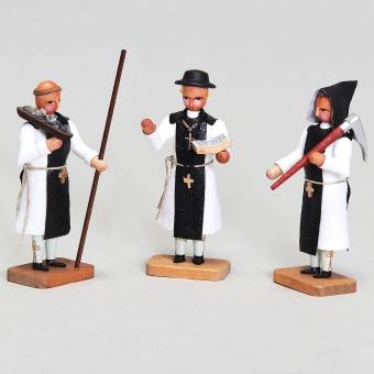 Zisterzienser Mönche, 3 Stück